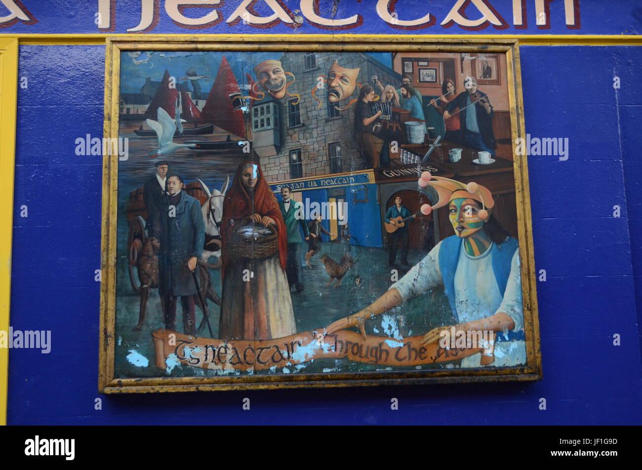 Historia, Arte y cultura celta pintura enmarcada en las calles de ...
