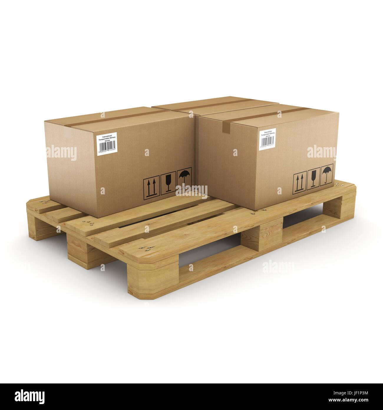 Caja de cartón presentación 3D Foto de stock