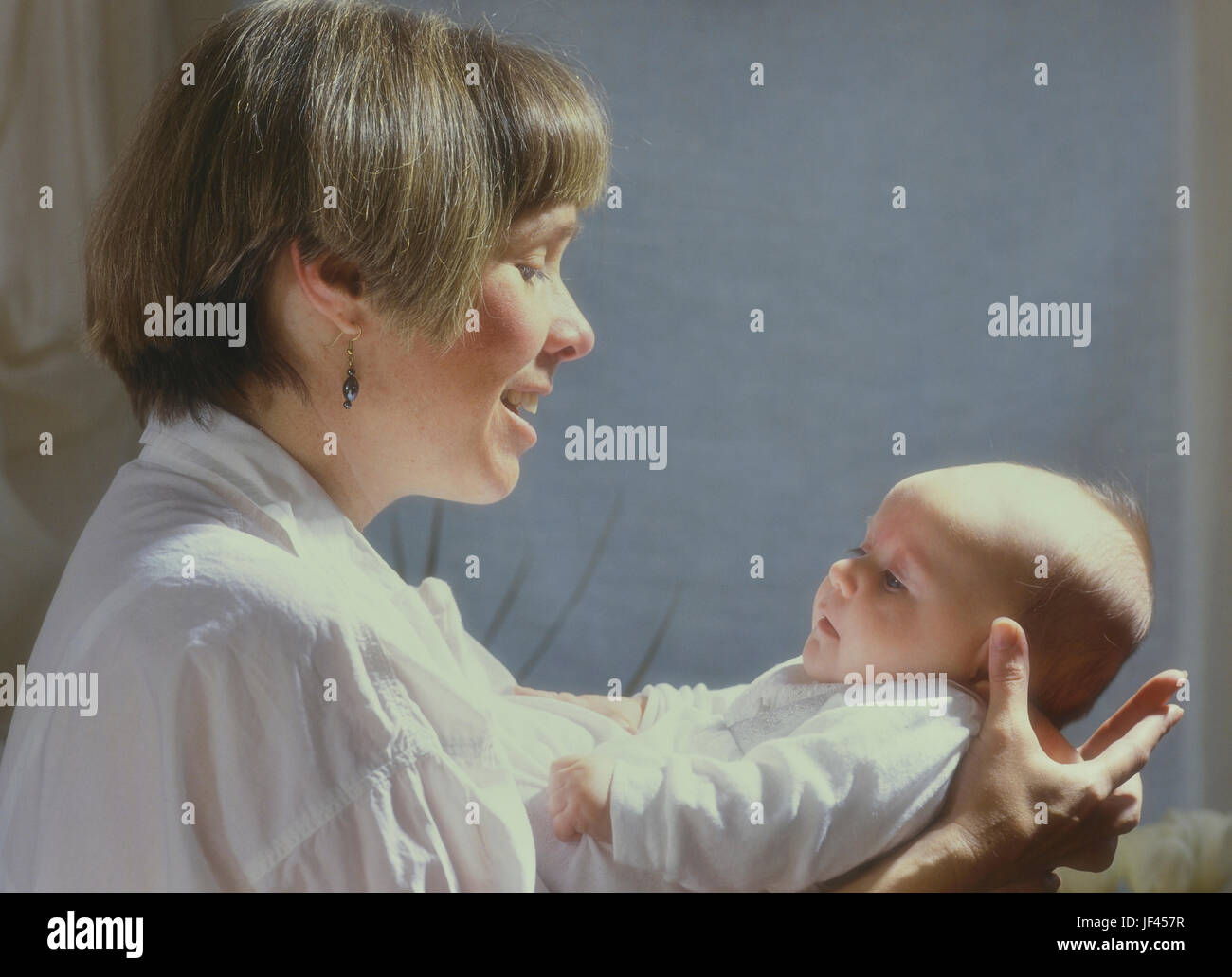 Madre del Cáucaso con 6 meses de edad Imagen De Stock