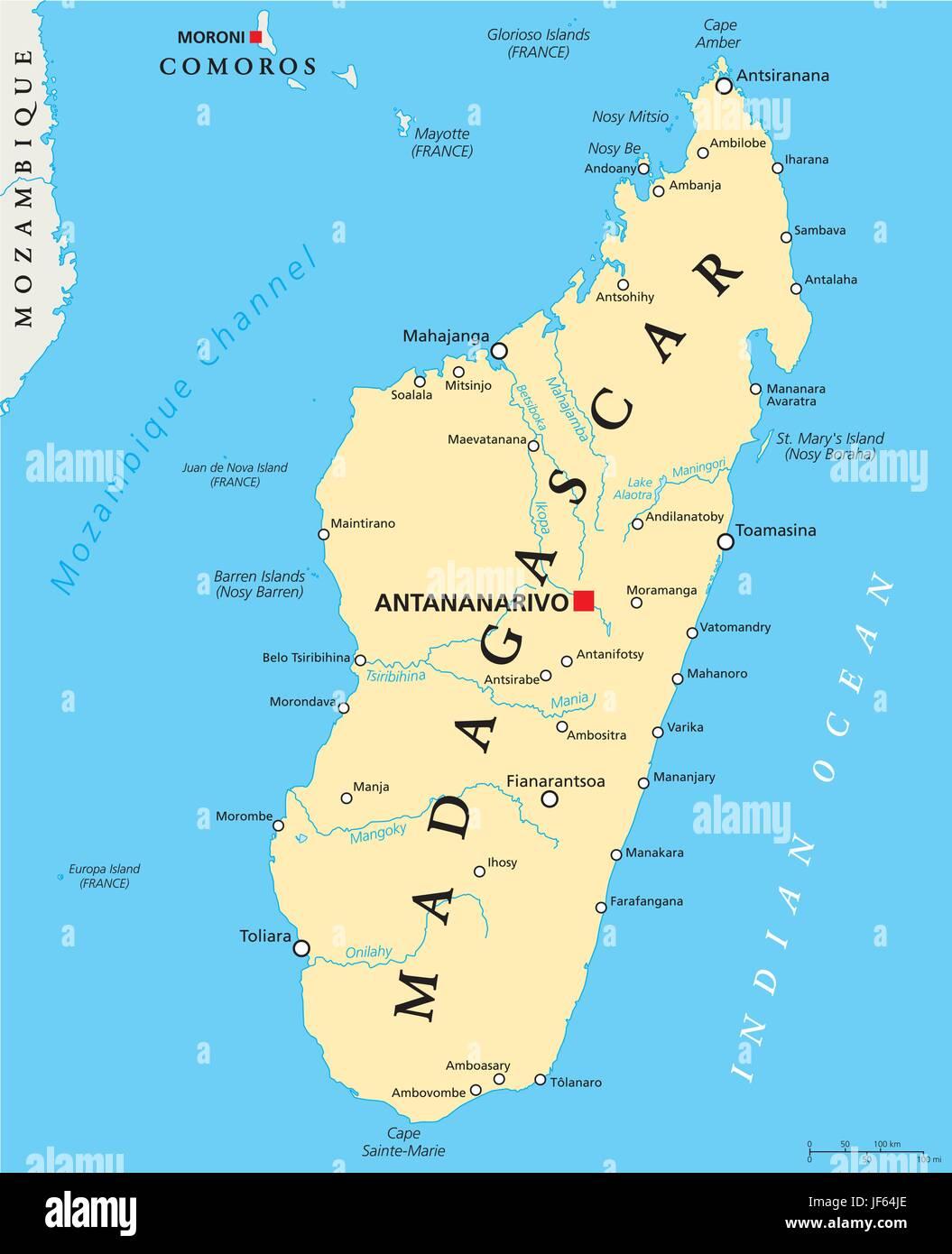 Isla De Madagascar Mapa.Madagascar Mapas Atlas Mapa Del Mundo Viajes Africa El Pais La Isla Imagen Vector De Stock Alamy