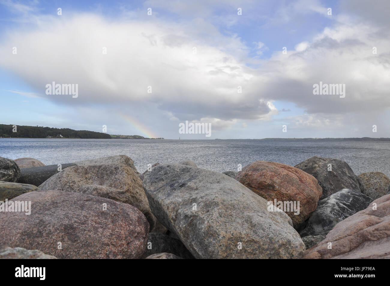 Cerca del mar Báltico, Aabenra Danmark Foto de stock
