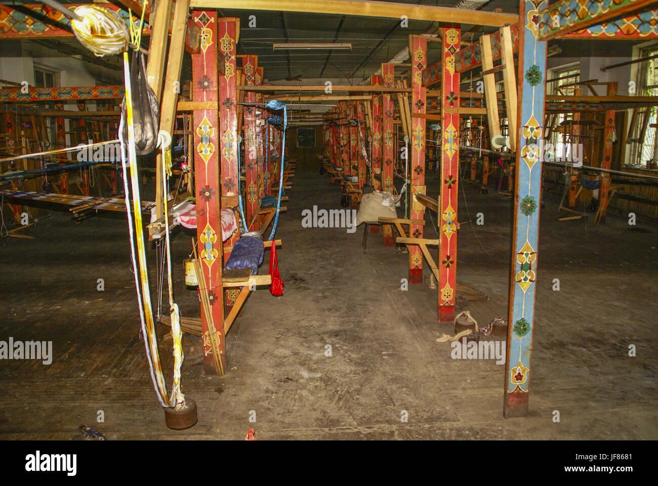 Weaver fabricación en Uzbekistán Imagen De Stock