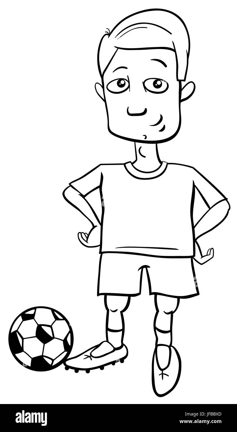 El Jugador De Fútbol Para Colorear Foto Imagen De Stock
