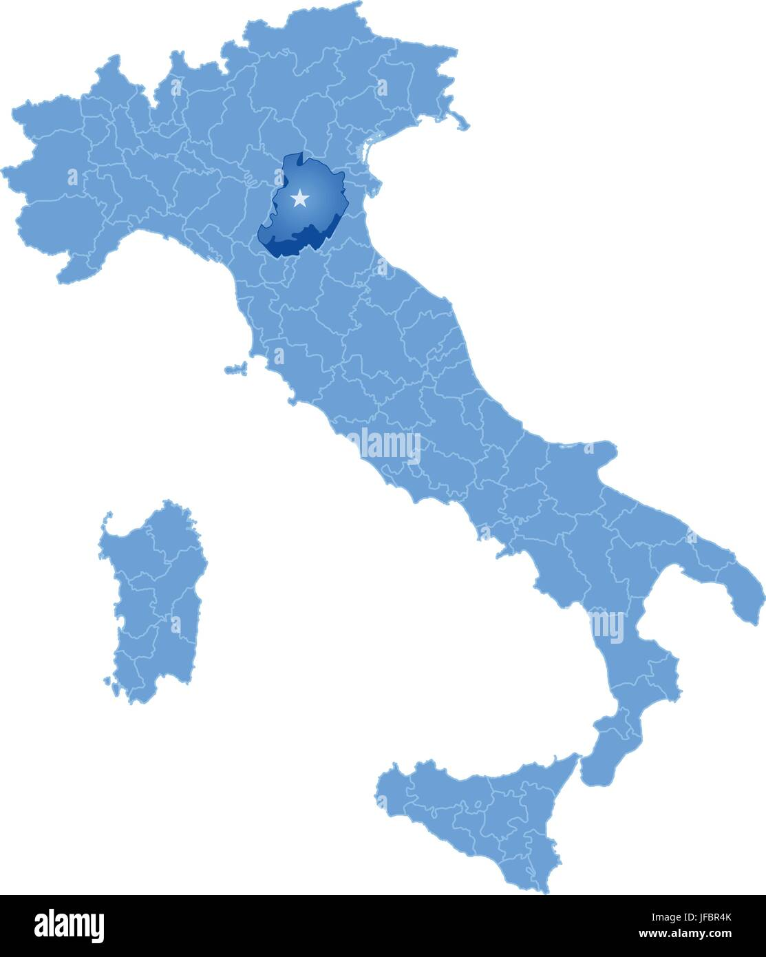 Mapa De Italia Bolonia Ilustracion Del Vector Imagen 147162419