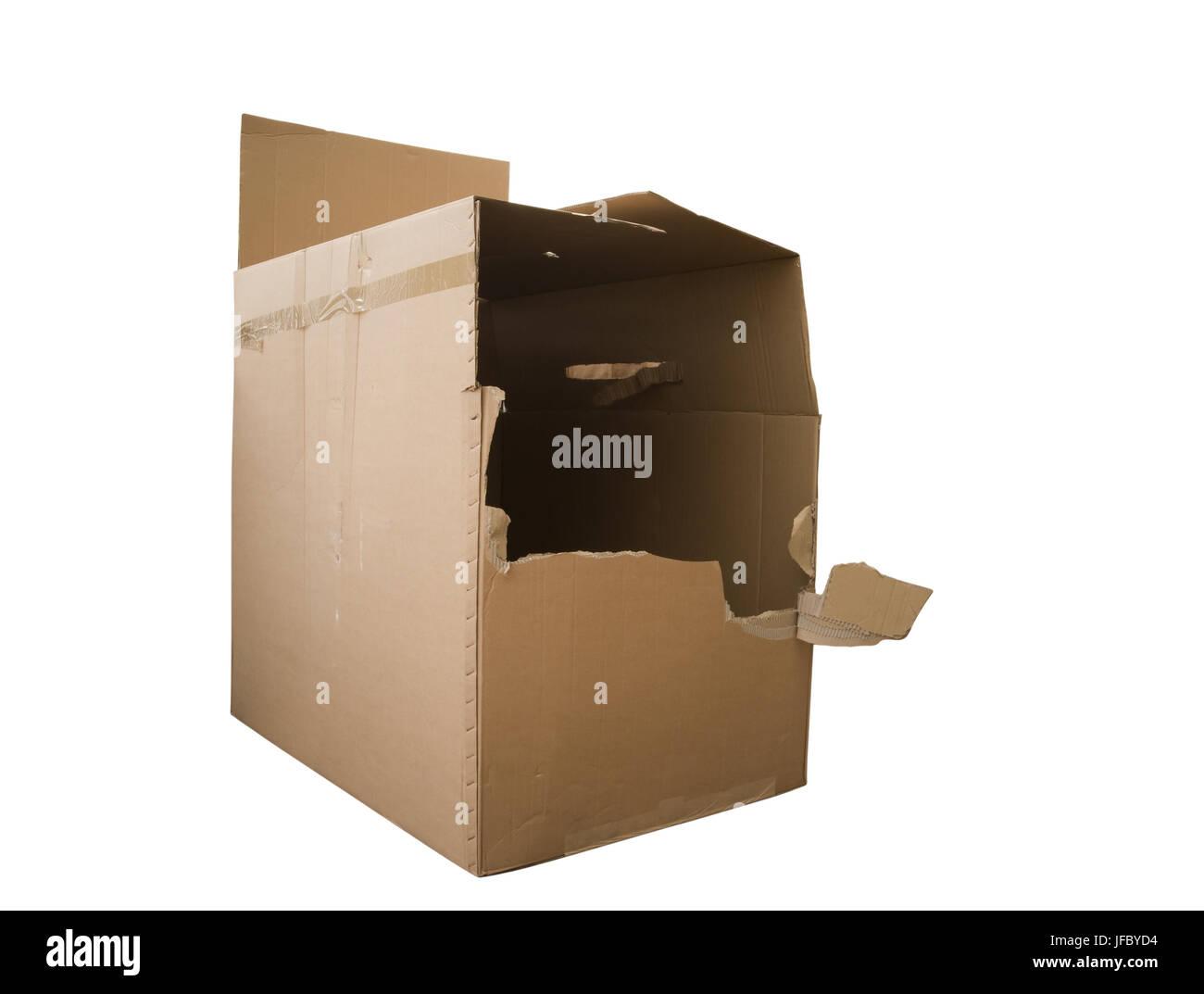 Agujero en el paquete Foto de stock