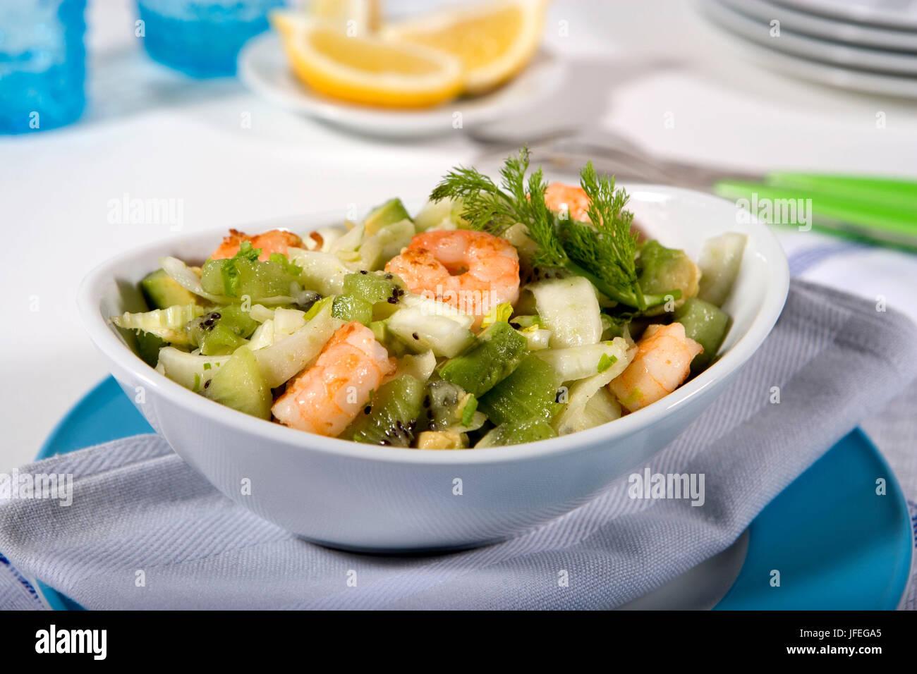 Hinojo orientales con ensalada de camarones Imagen De Stock