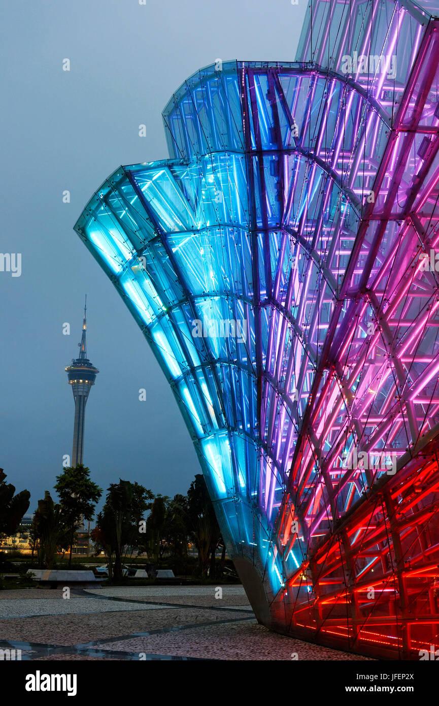China, Macao, la Torre Macau Imagen De Stock
