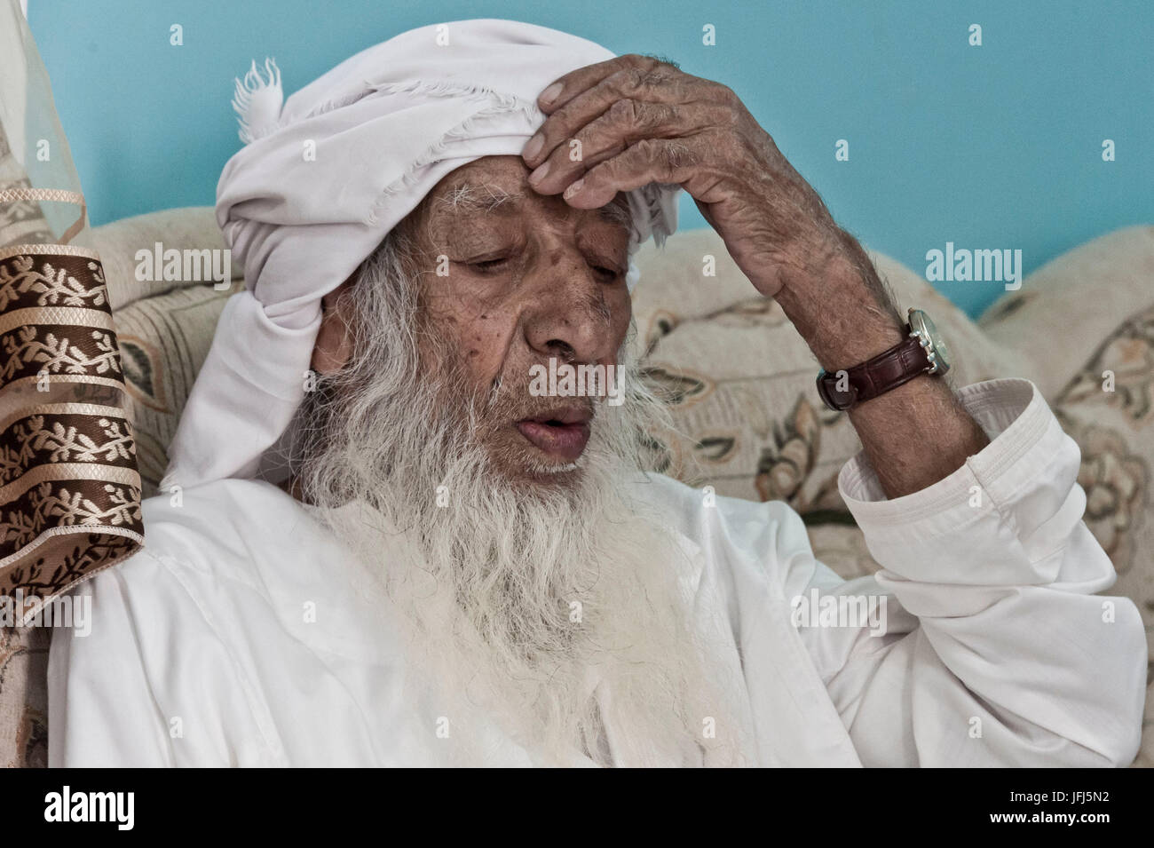 Saudita, Península Arábiga, Sultanato de Omán, meseta Saiq, Jebel Akhdar, Sayq omaní, la más Imagen De Stock