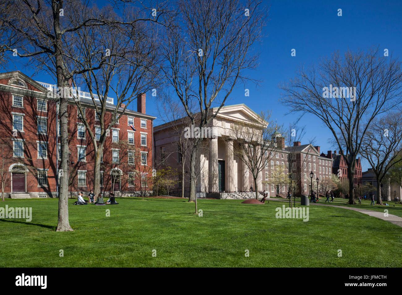 Estados Unidos, Providence, Rhode Island, la Universidad de Brown, ivy-league campus universitario Imagen De Stock