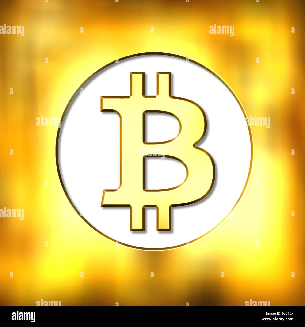 Símbolo de moneda cripto Bitcoin ilustración Imagen De Stock