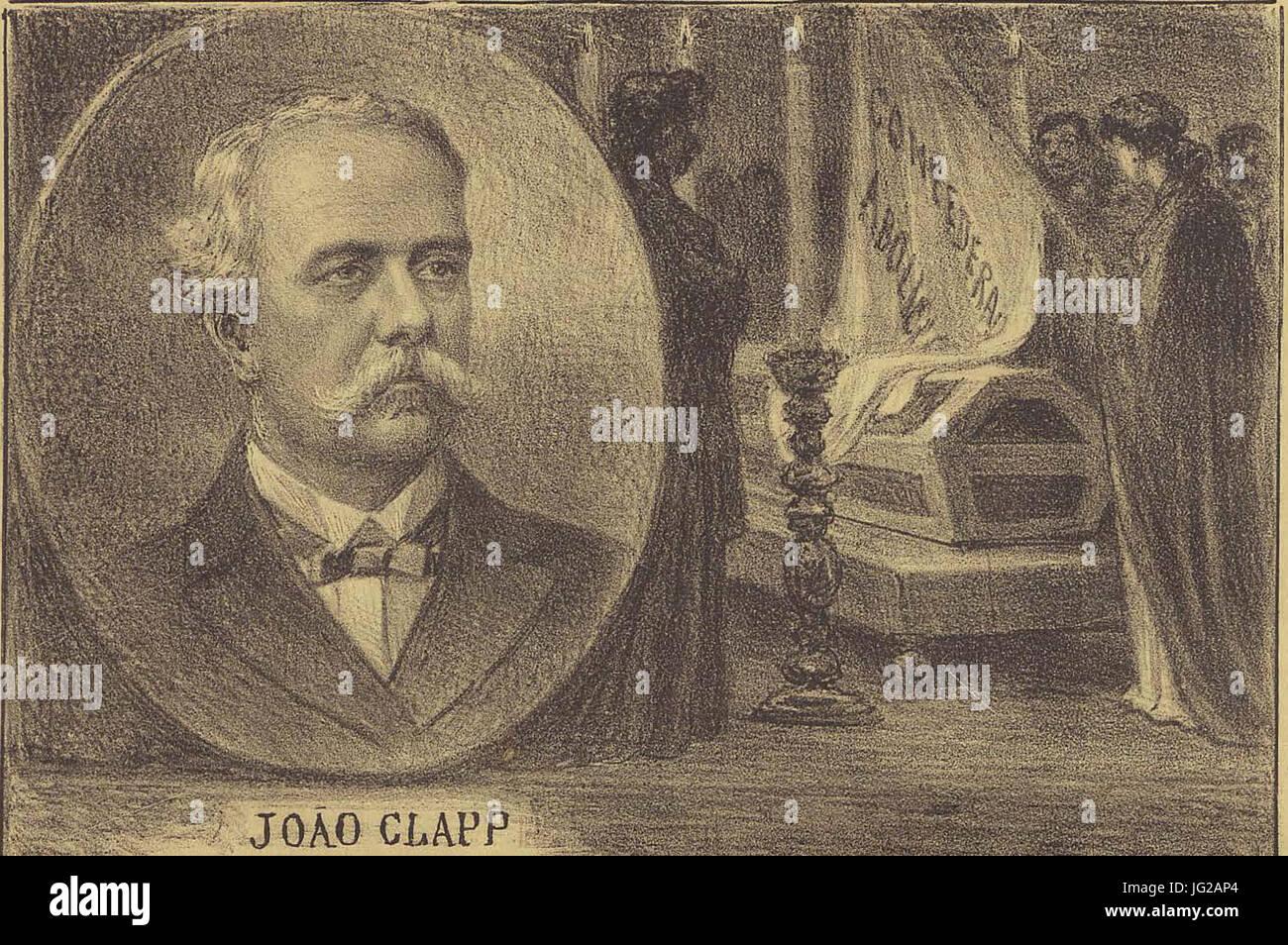João Clapp, presidente da Confederação abolicionista. Fallecido em 11 de dezembro de 1902, em Petropolis Foto de stock