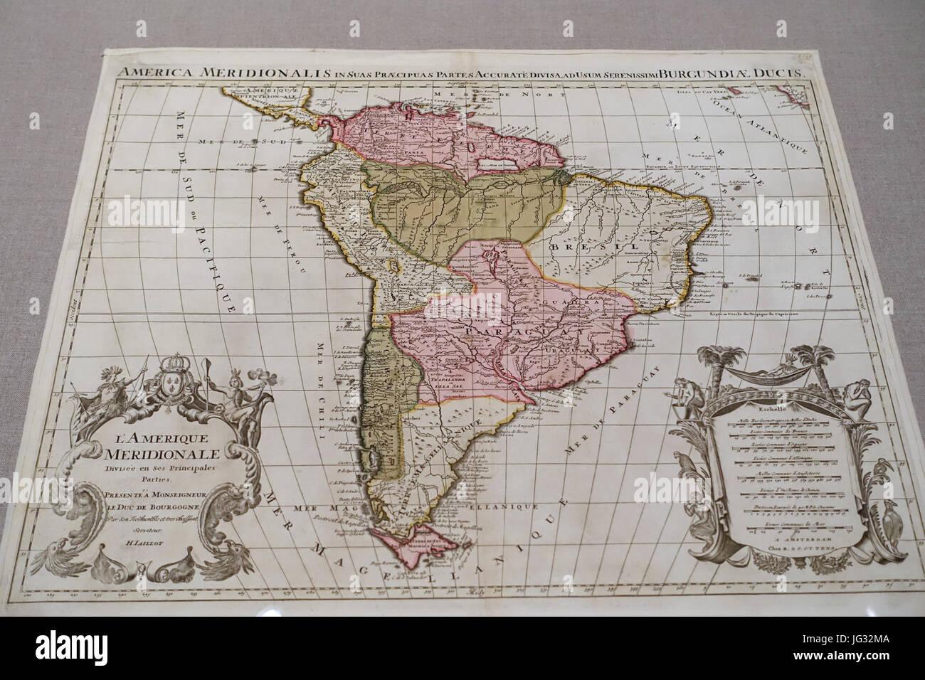 L\'Amerique Meridionale divisée en ses principales partes..., Alexis ...