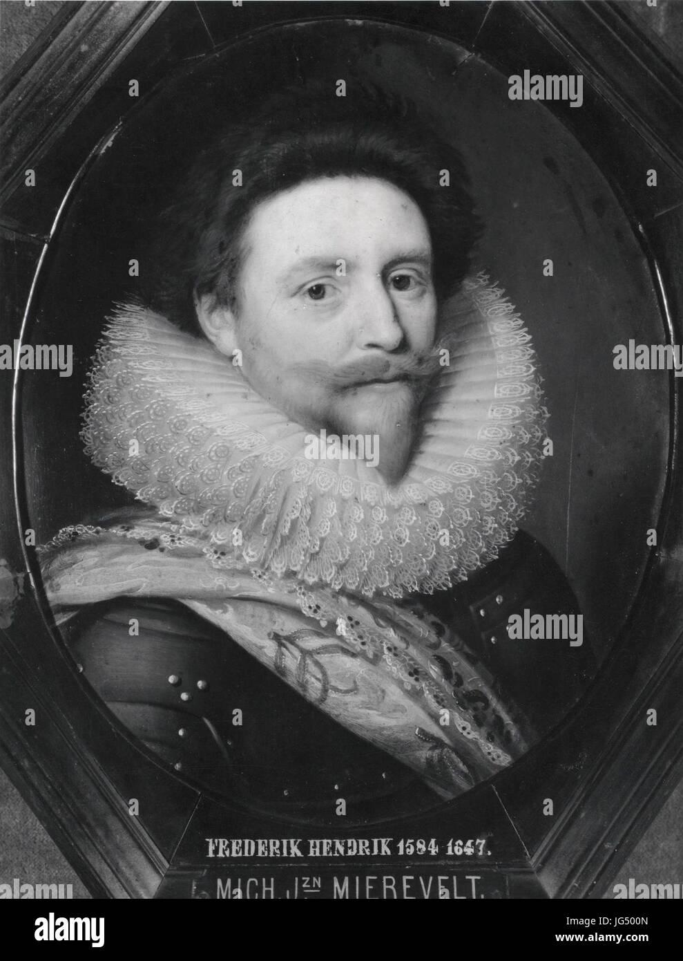 Retrato de Frederick Henry, Príncipe de Orange, desde el taller de Michiel van Mierevelt Musée d'Art et d'Histoire d'Orange Foto de stock