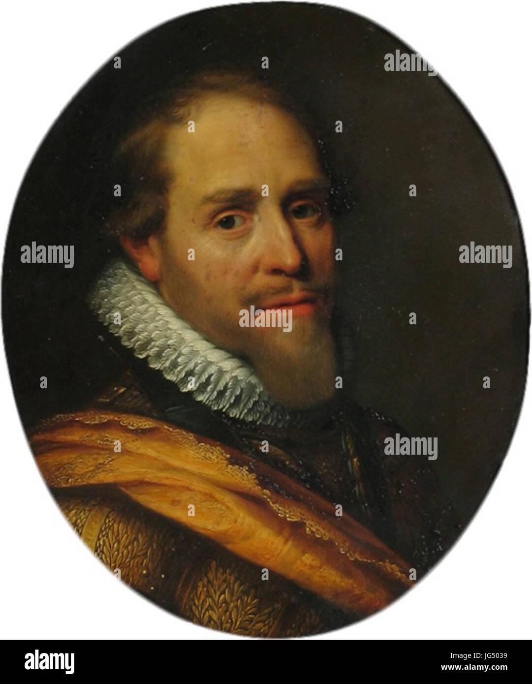 Retrato de Maurice, Príncipe de Orange, por Michiel van Mierevelt Musée d'Art et d'Histoire d'Orange Foto de stock