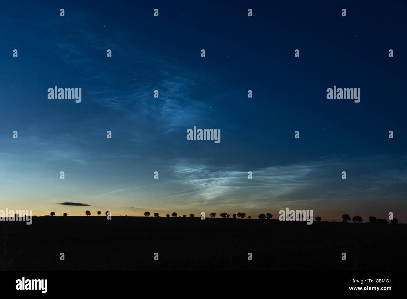 Nubes cerca Noctilucent Redford, Angus Foto de stock