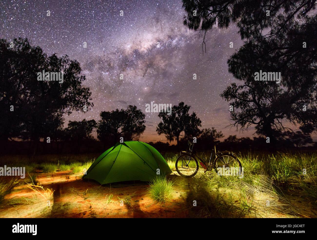 Camping en australia Imagen De Stock
