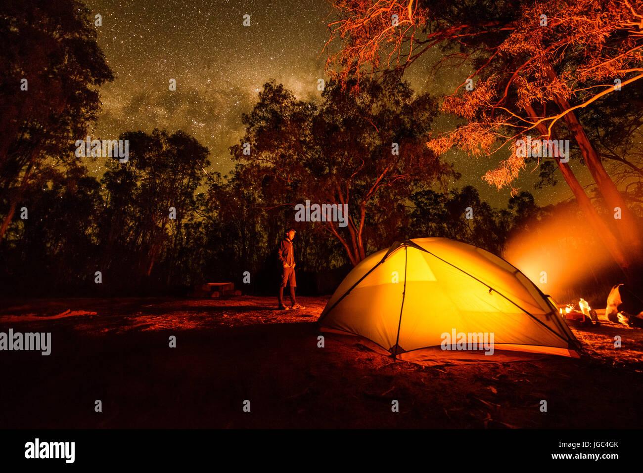 Camping en australia Foto de stock