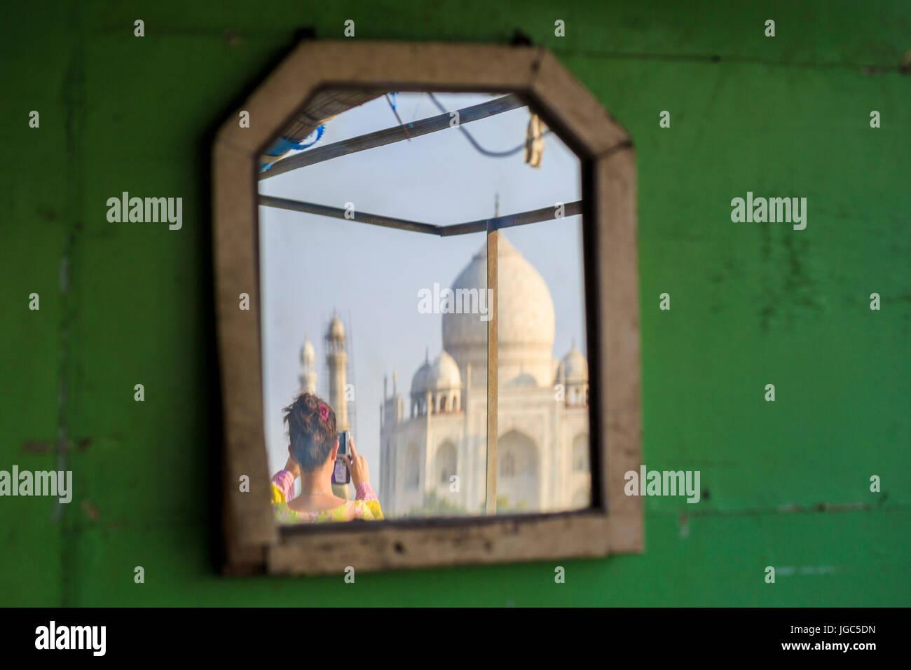 Taj Mahal, Uttar Pradesh, India Imagen De Stock