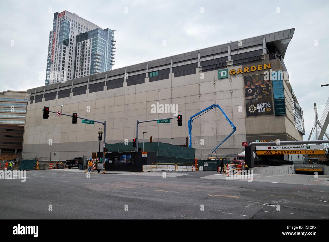 TD Garden Arena Boston, EE.UU. Imagen De Stock