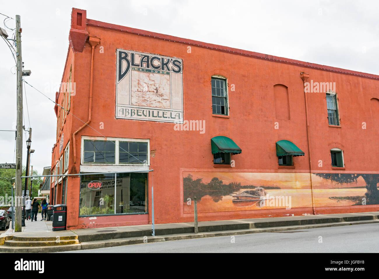 Luisiana, Abbeville, Vermilion Parish, Black's Oyster Bar & Seafood, establecido 1967 Imagen De Stock