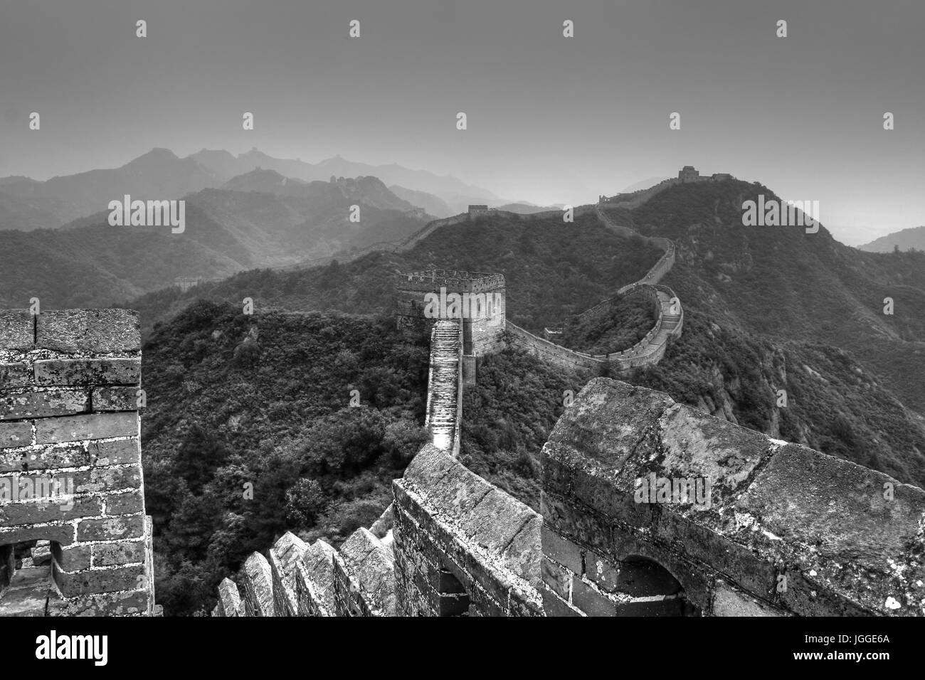 Gran Muralla china tour caminando Jinshanling Imagen De Stock