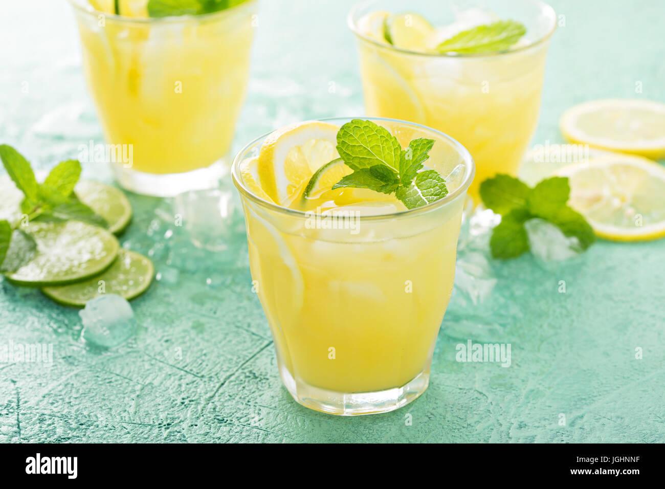 Cóctel de cítricos refrescante con limón Imagen De Stock
