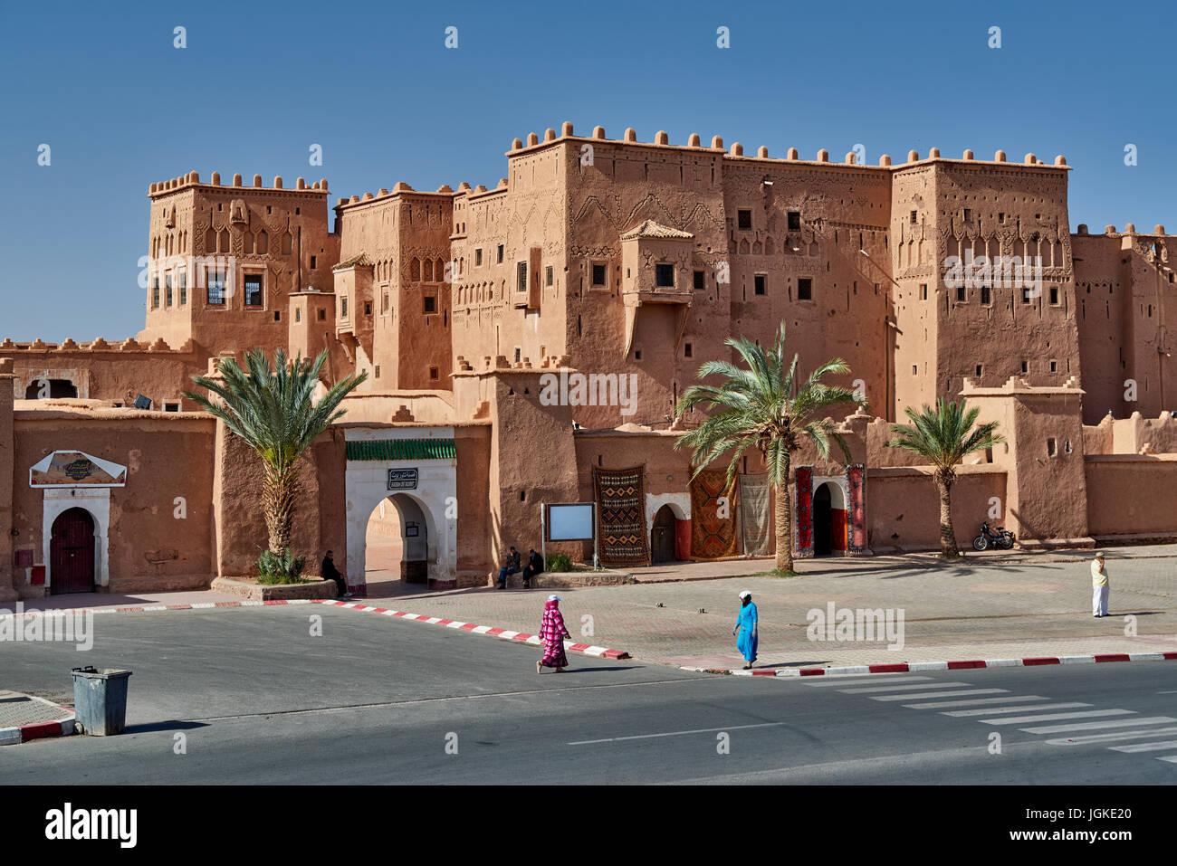 Fuera de tiro de Kasbah Taourirt, Ouarzazate, Marruecos, África Imagen De Stock