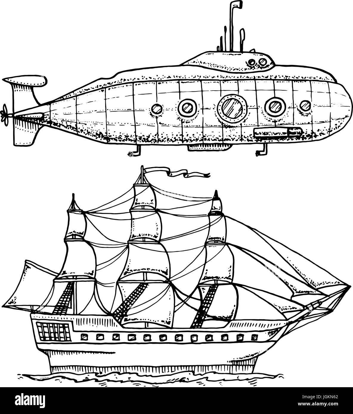 Cartoon Ship Sea Imágenes De Stock & Cartoon Ship Sea Fotos De Stock ...