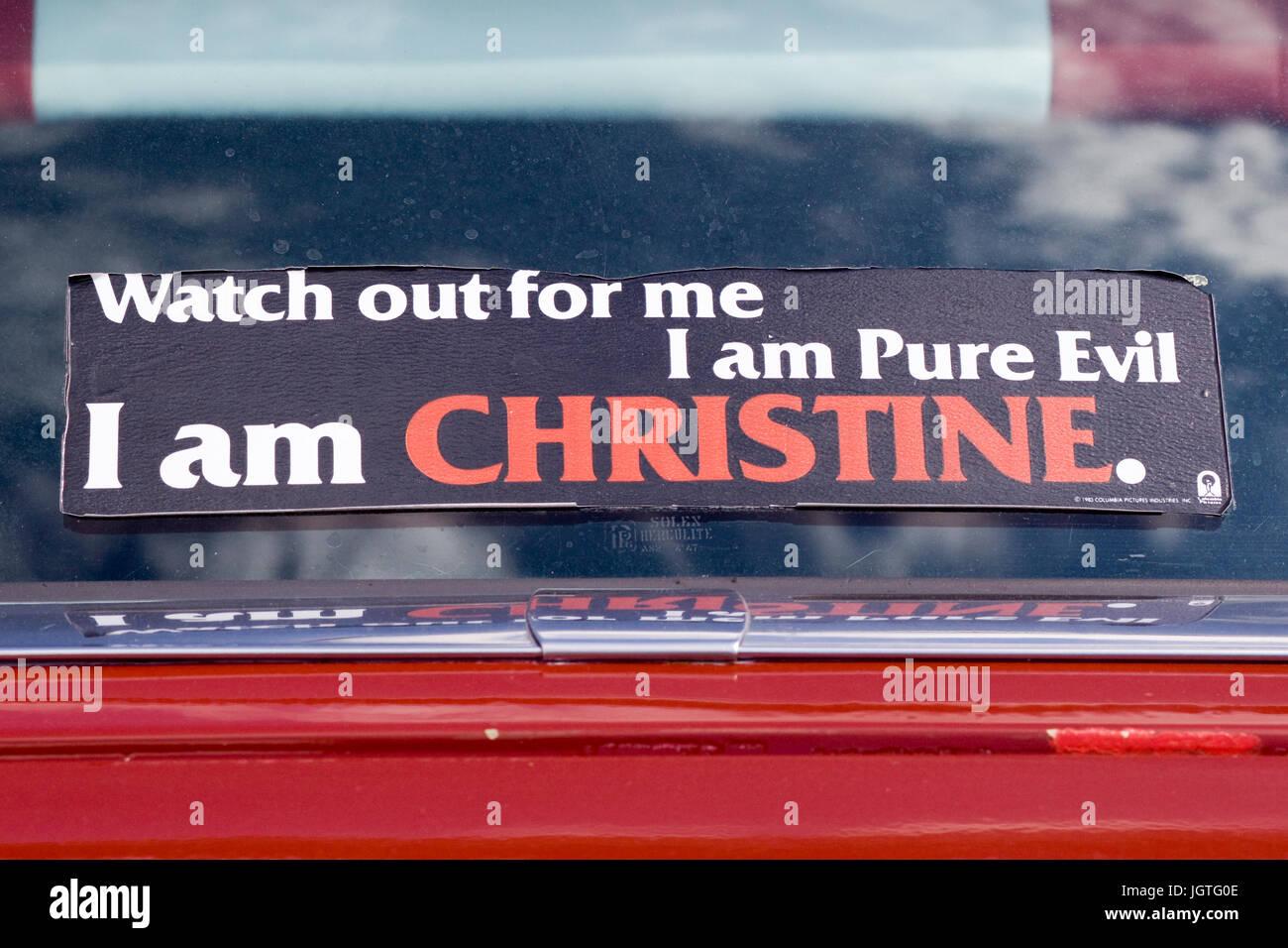 Mire hacia fuera para mí, me siento mal puro, soy Christine Imagen De Stock