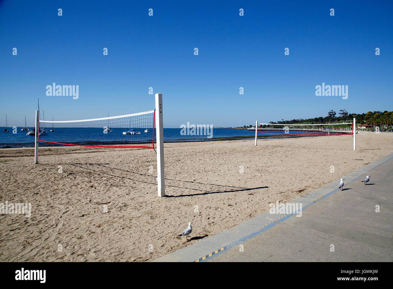 Cancha de volley ball Imagen De Stock