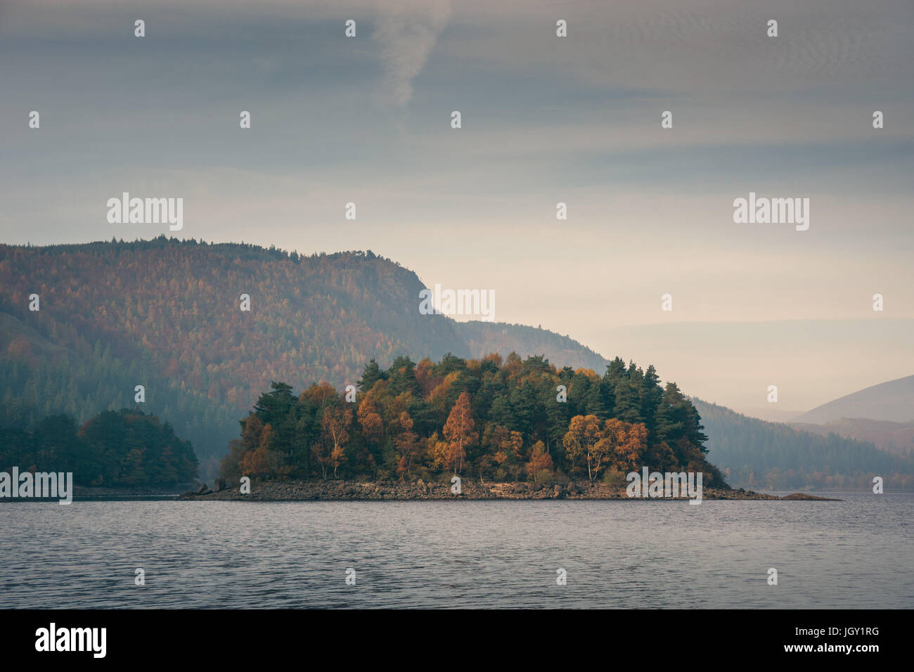 Vista de Thirlmere lake, Lake District, RU Imagen De Stock