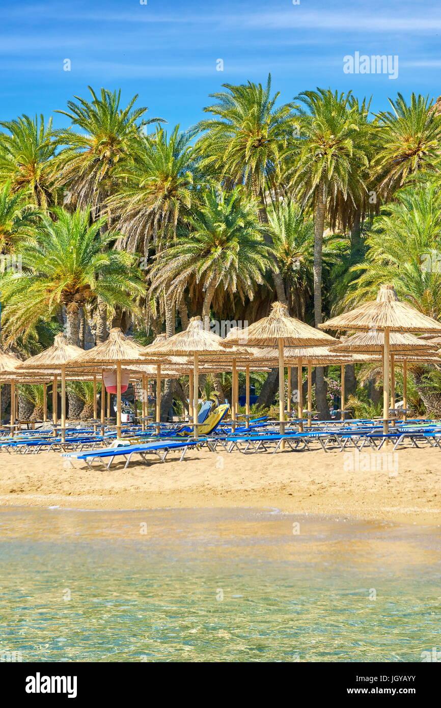 Vai Beach, en la isla de Creta, Grecia Imagen De Stock