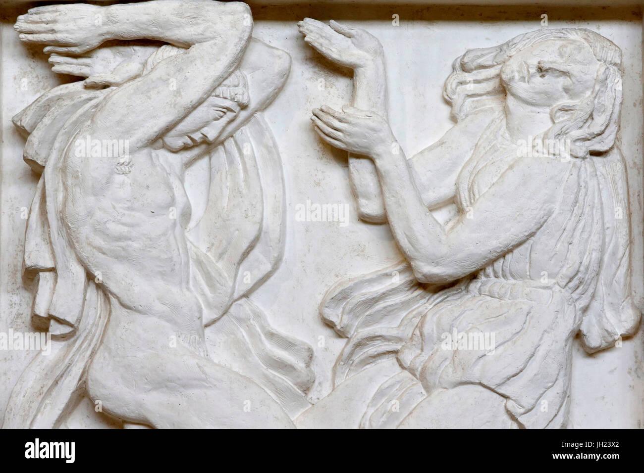Antoine Bourdelle museo, París. Danza. Alivio para el teatro de los Campos Elíseos. 1912. El yeso. Francia. Imagen De Stock