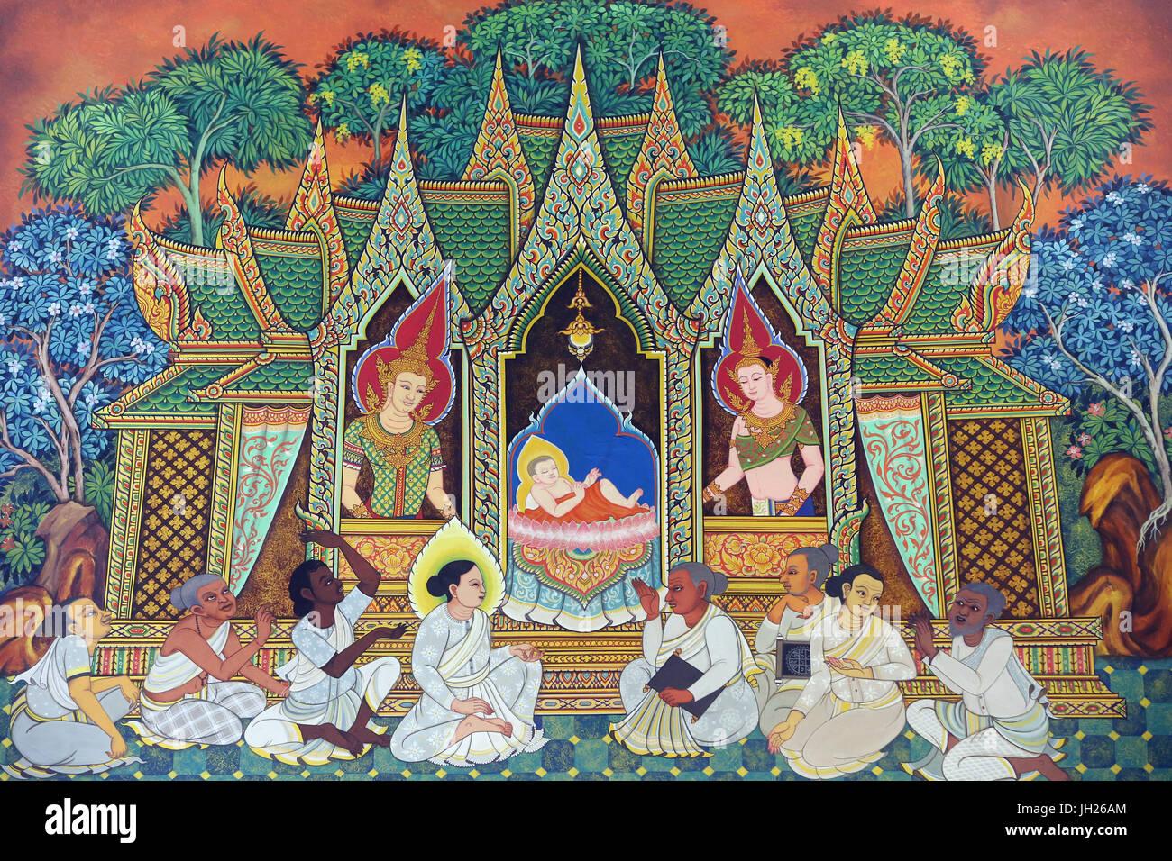 Wat Ananda Metyarama Templo Budista Tailandesa. Nacimiento de Siddhartha  Gautama (comúnmente conocido como Buda). Singapur Fotografía de stock -  Alamy