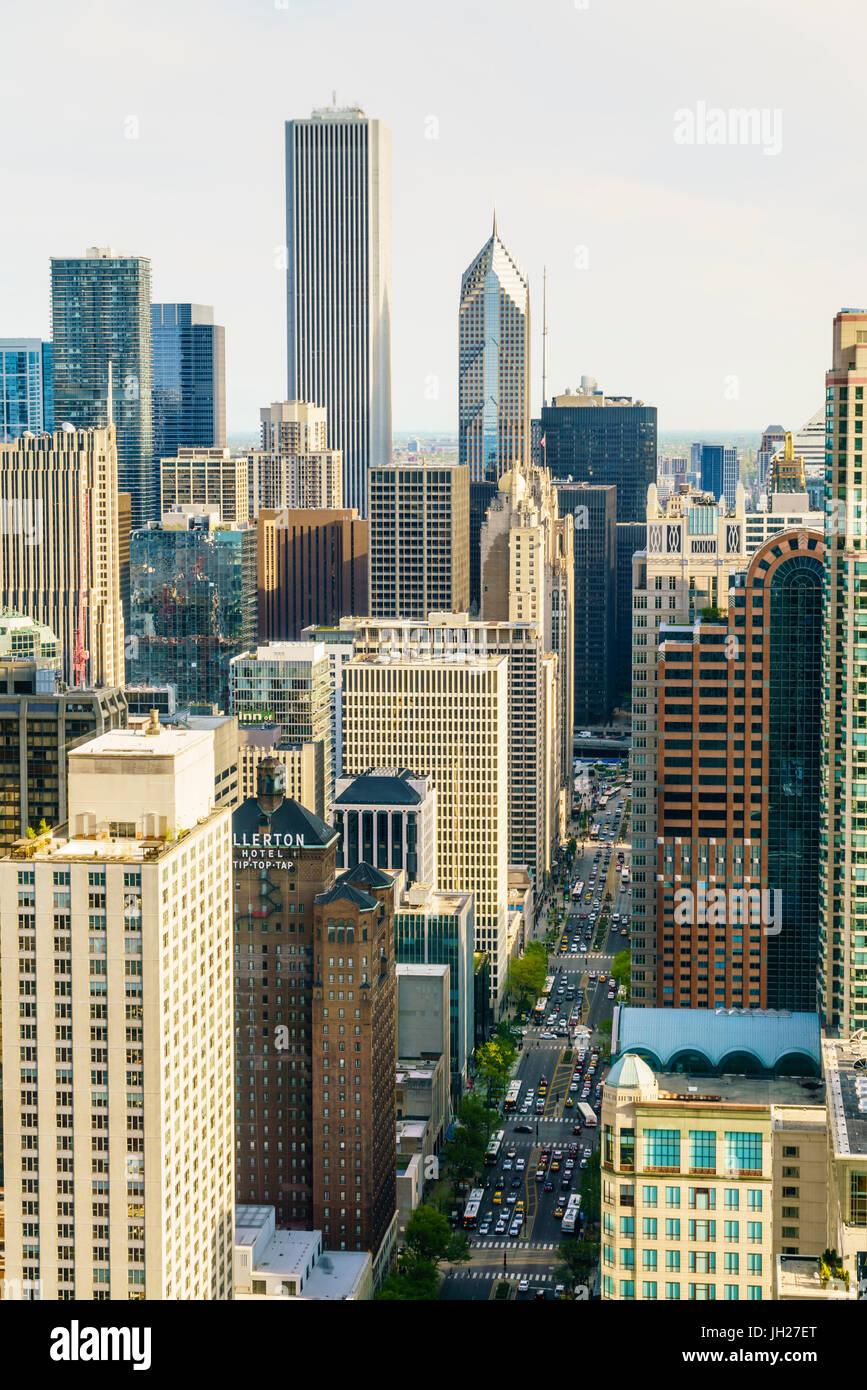 Los rascacielos, Chicago, Illinois, Estados Unidos de América, América del Norte Imagen De Stock