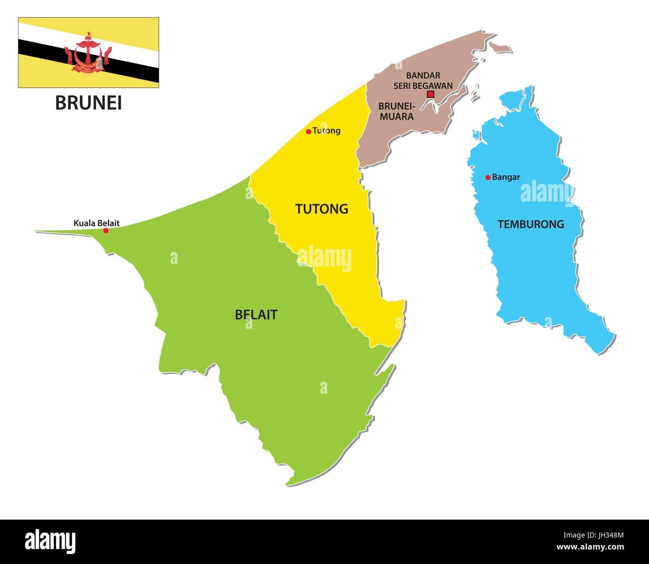 Picture of: Brunei Map Fotos E Imagenes De Stock Alamy