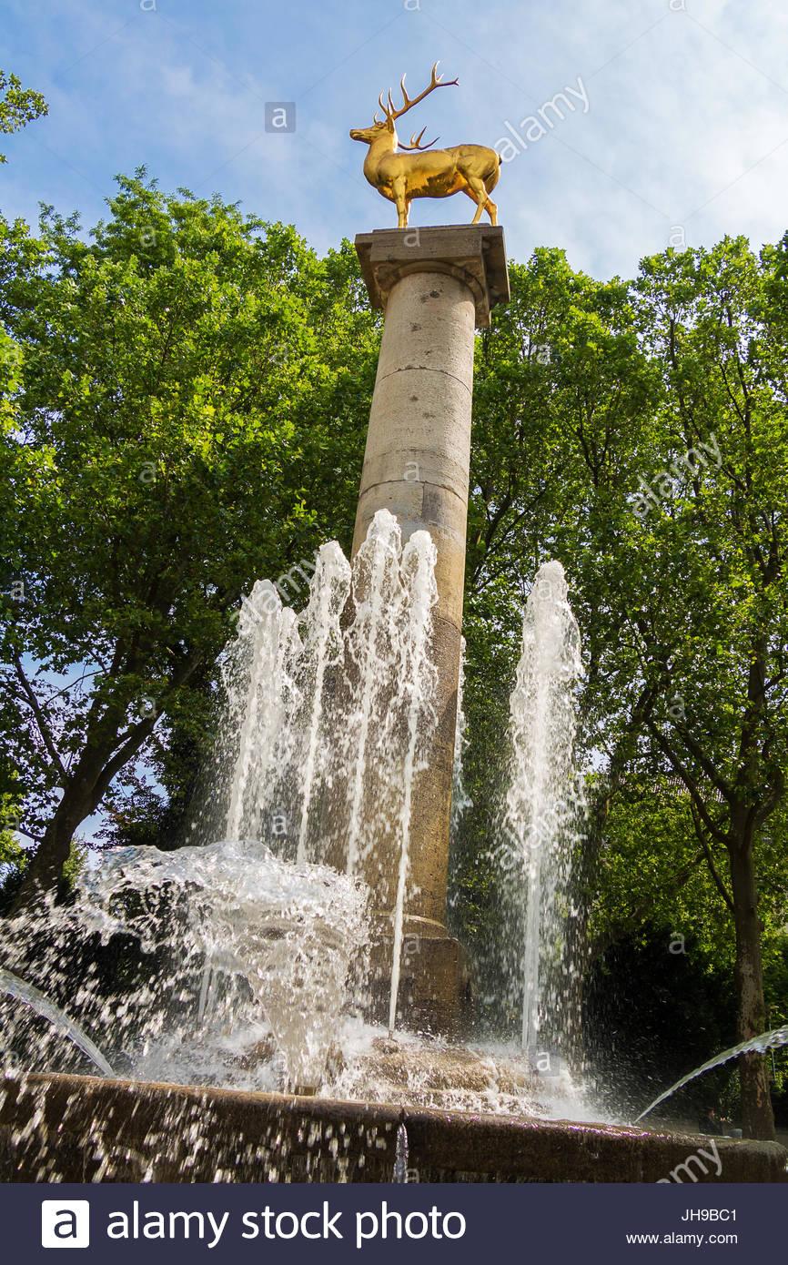 Rudolph Wilde, Deer Park Fountain Hirschbrunnen parque urbano de Berlín Alemania ciudad paisaje paisaje del Imagen De Stock