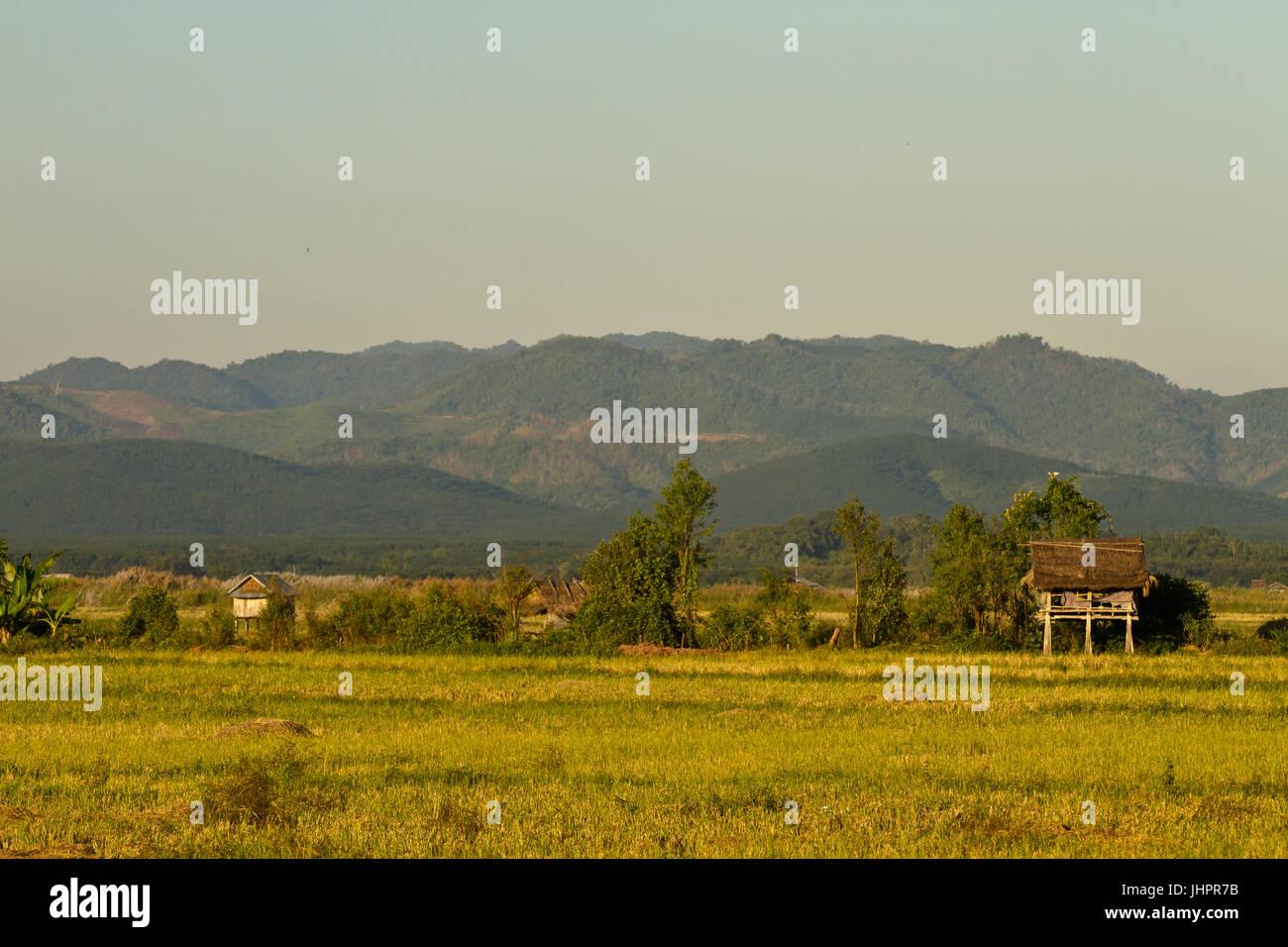 Ubicación de Muang Sing, Laos Imagen De Stock