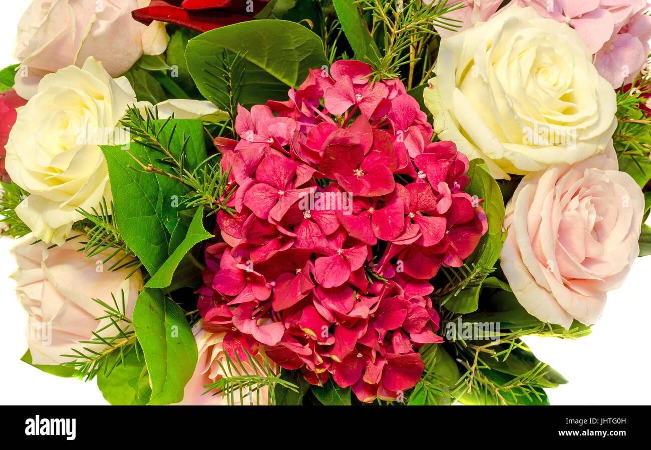 Arreglos Florales Ramo De Novia Blanco Rosa Violeta