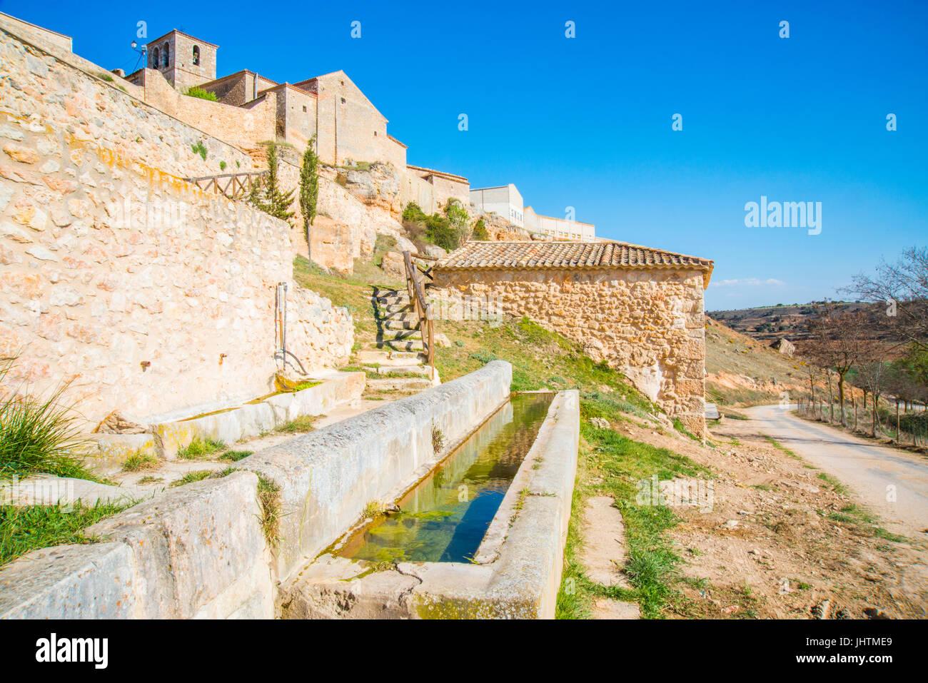 Atauta, provincia de Soria, Castilla y León, España. Foto de stock