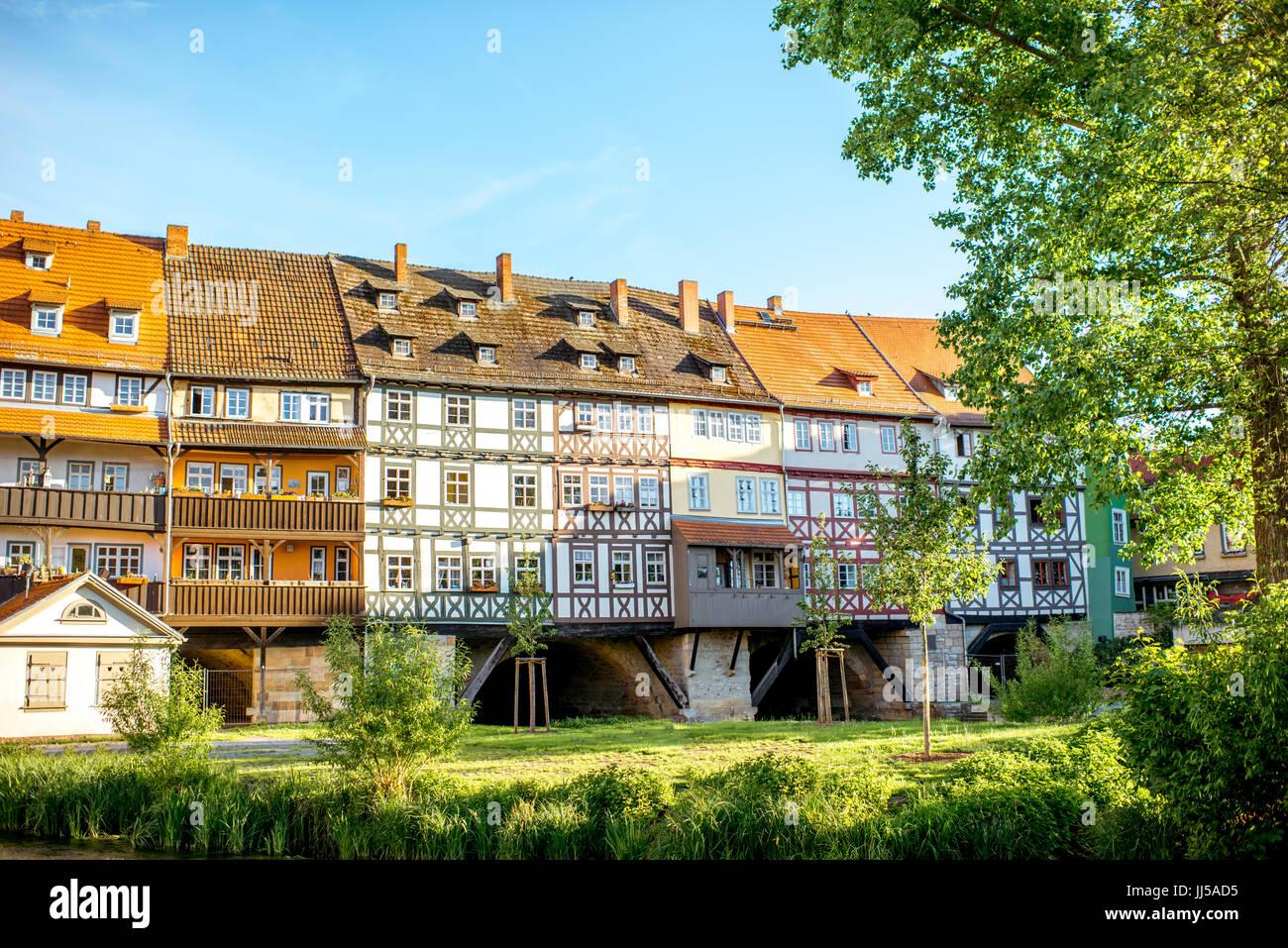 La ciudad de Erfurt en Alemania Imagen De Stock