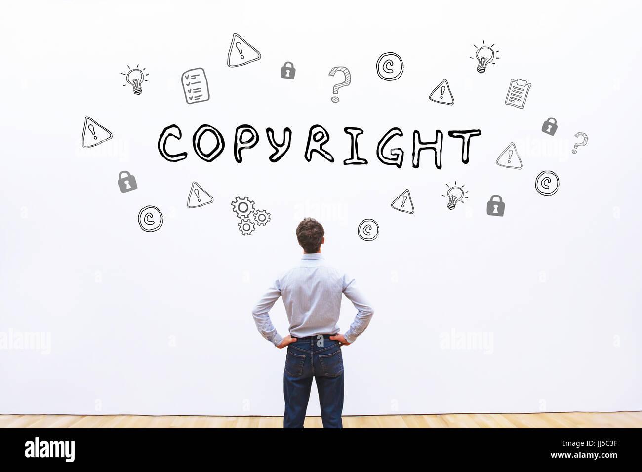 Concepto de copyright Foto de stock