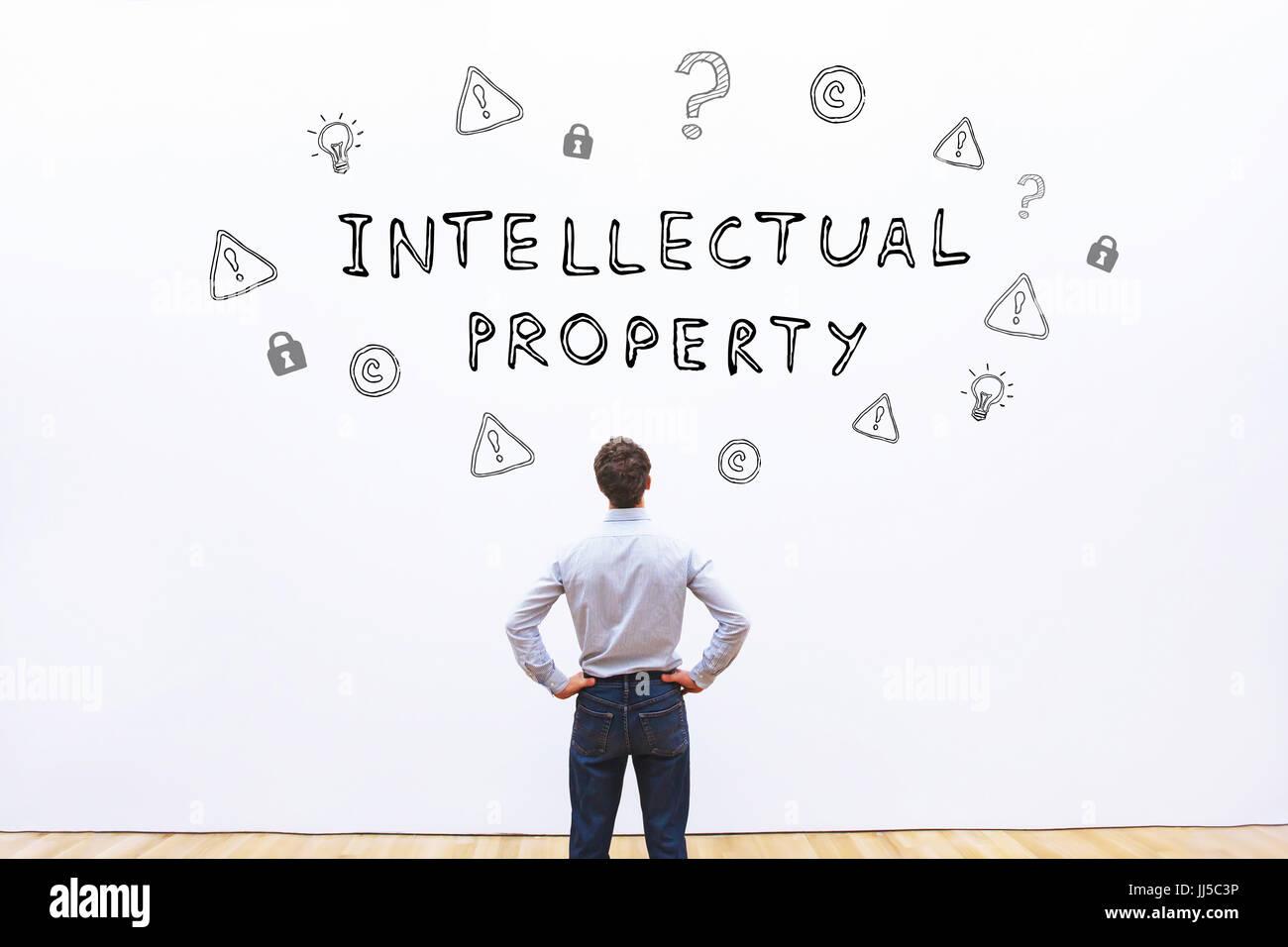 Concepto de propiedad intelectual Foto de stock