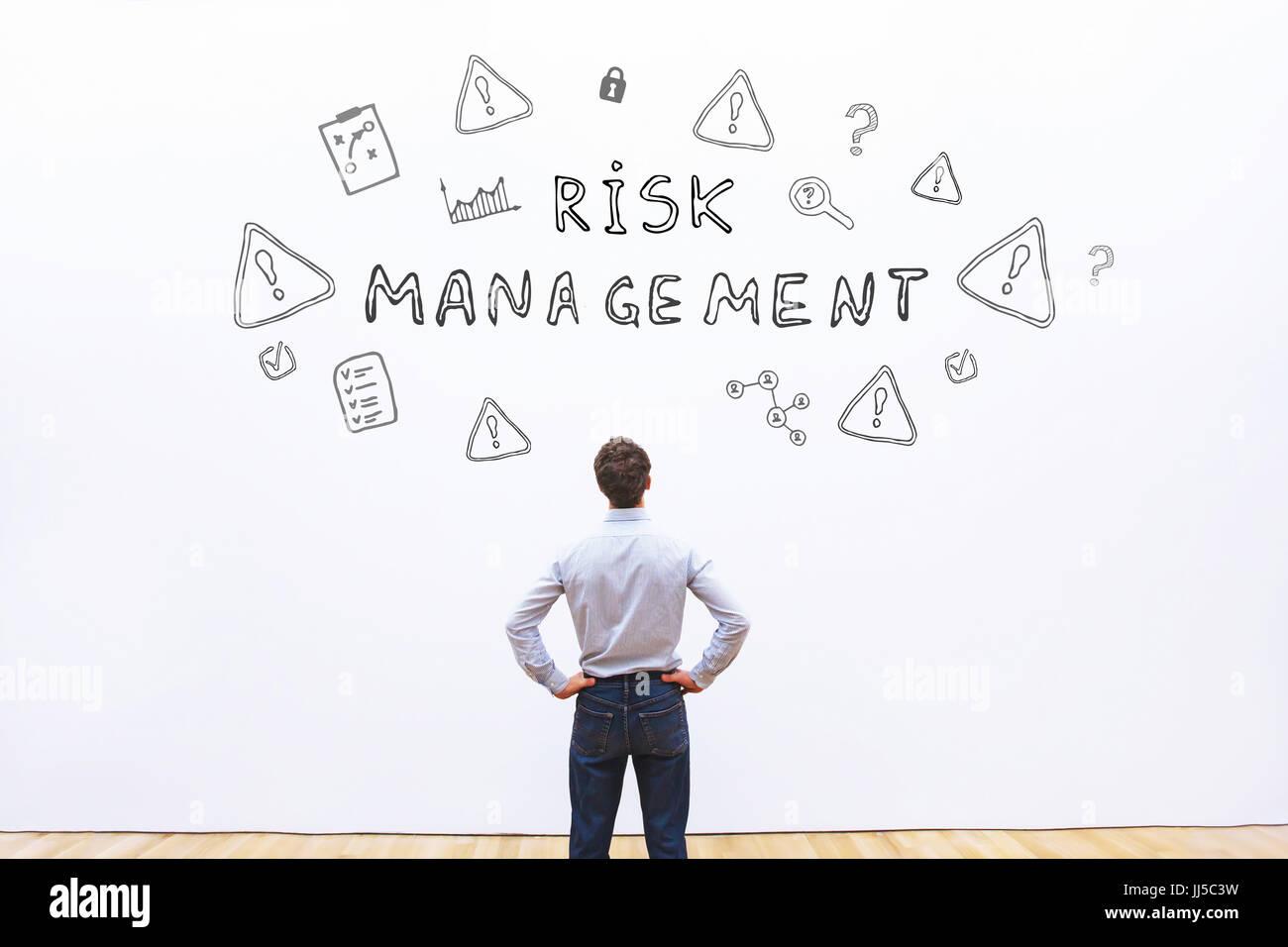 Concepto de gestión de riesgos Imagen De Stock