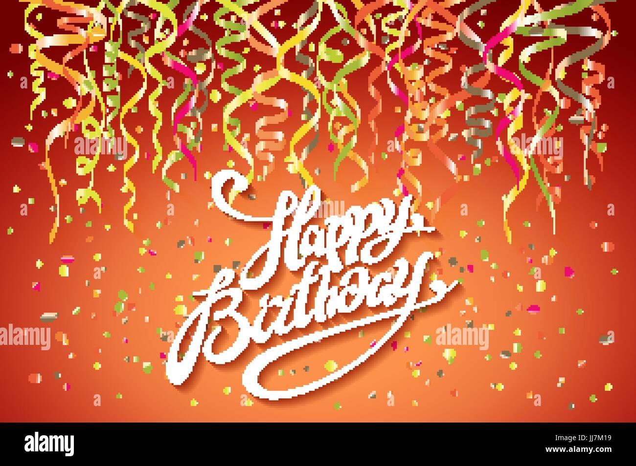 Feliz Cumpleaños Vector Diseño Tipográfico Para Tarjetas De