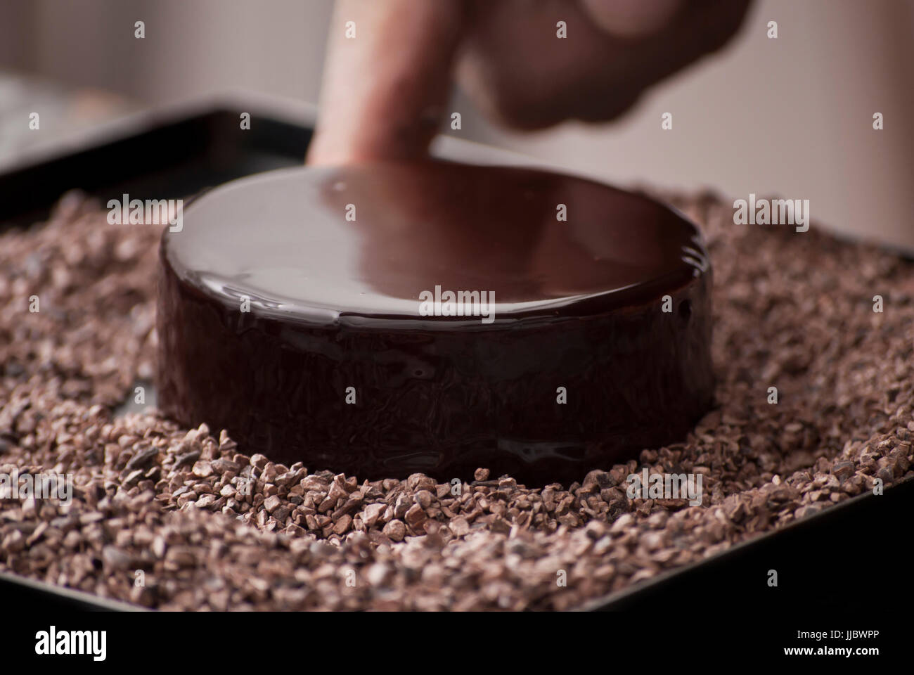 El Mousse de chocolate Imagen De Stock