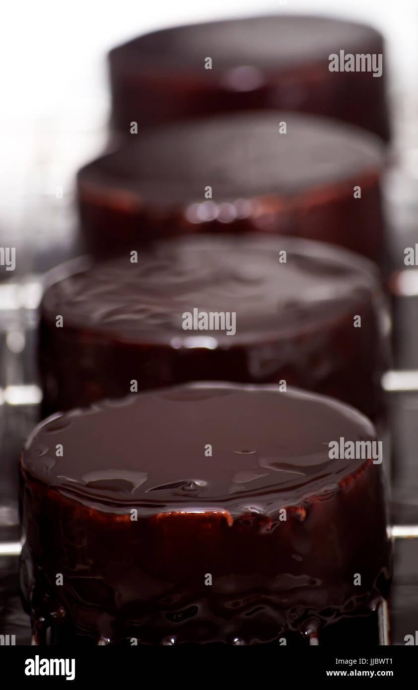 Mousse de tres chocolates Imagen De Stock