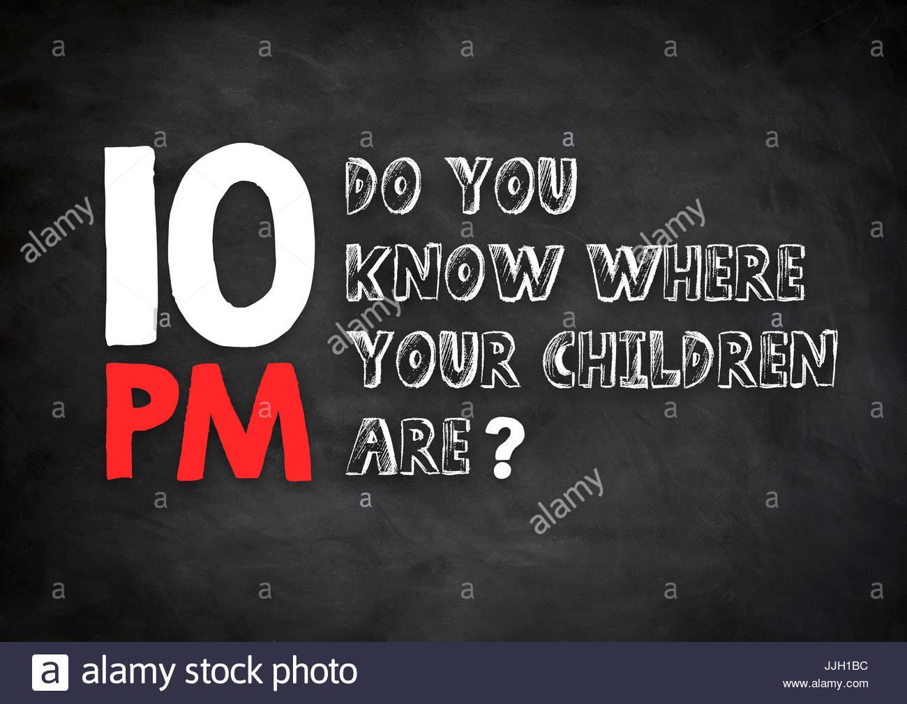 Mire hacia fuera para sus hijos Imagen De Stock