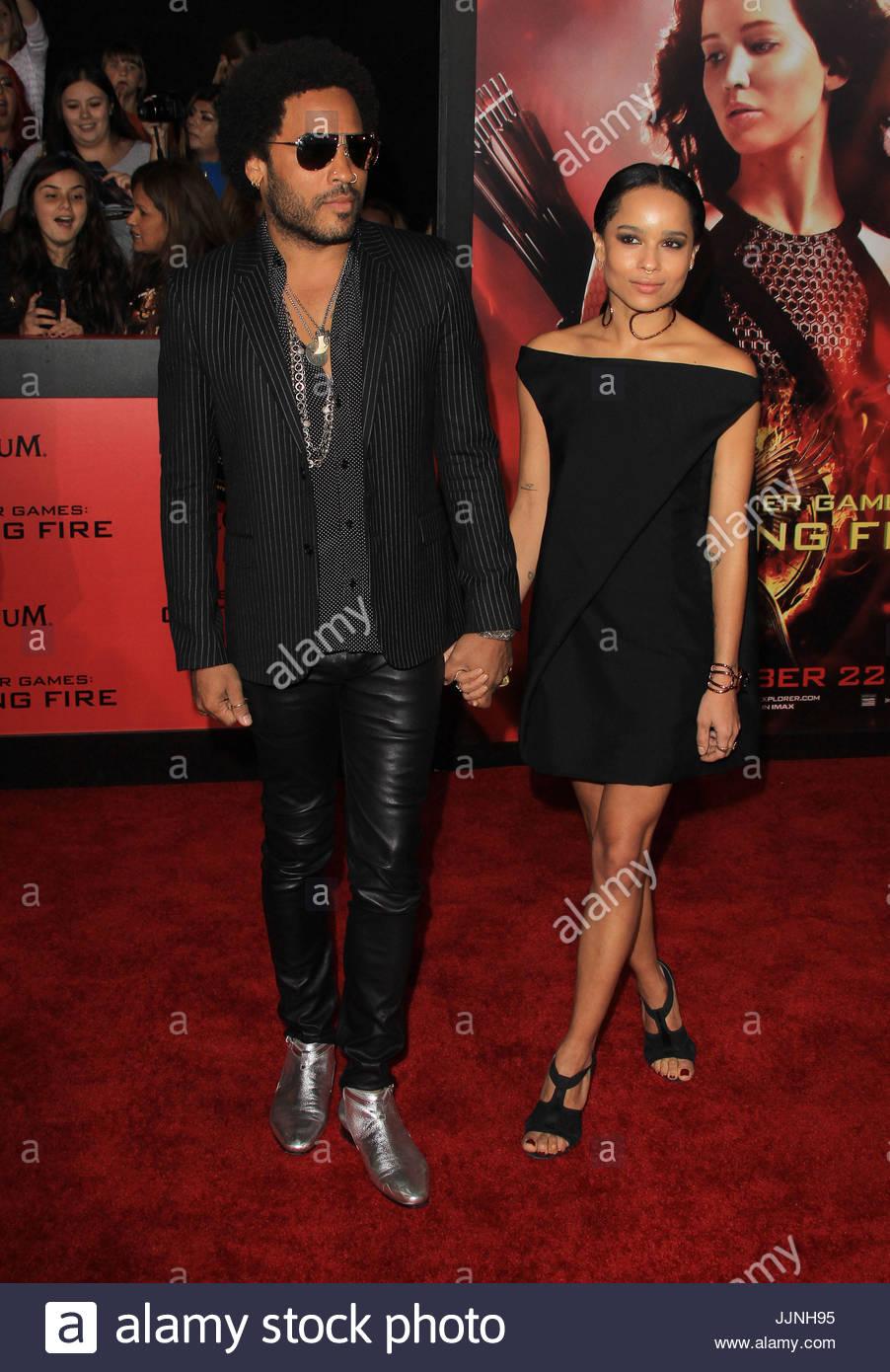 Lenny Kravitz Y Zoe Kravitz Los Juegos Del Hambre La Captura De
