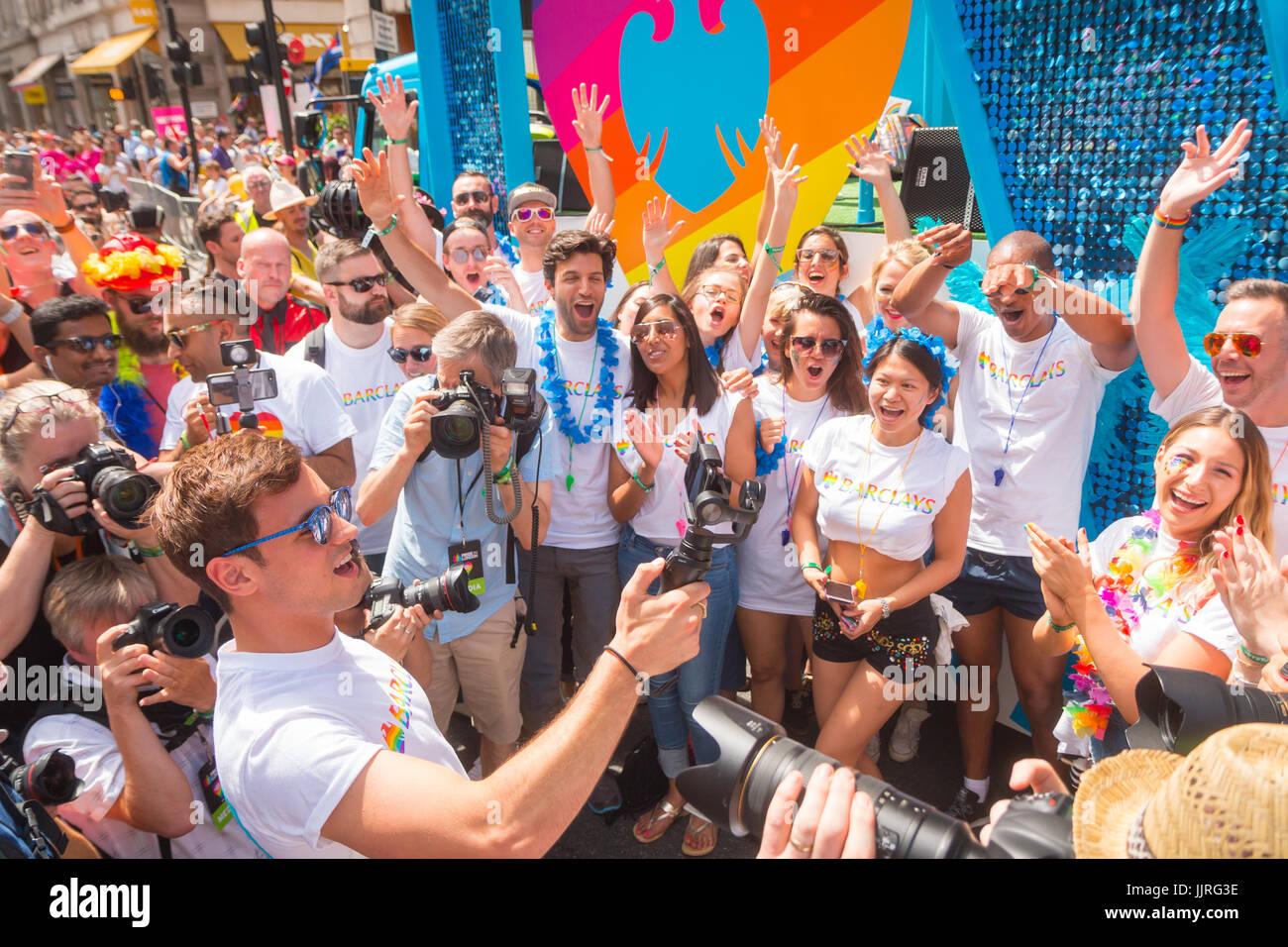 Tom Daley en Pride en Londres 2017 Imagen De Stock